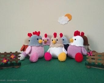 Chicken crochet amigurumi Ydekado