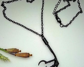 SOLD!!! Raven Spirit Animal Totem Crow Bird Claw Talon Foot Pendant Necklace Shaman Totem  Gothic Jewelry Witch Boho Forest Magic Steam Punk