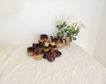 10 Piece Stoneware Table Service, Country Kitchen, French Farmhouse, Pots, Table Service Collection
