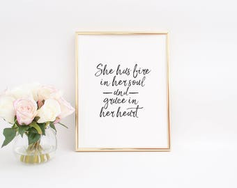 QUOTE PRINTABLE,Grace Upon Grace,She Believed She Could So She Did,Modern Wall Art,Women Gift,Office Wall Art,Girls Room Art,Teen Room Art