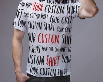 Custom shirt 3D t shirt Personalized shirt Custom tee Custom toddler shirPersonalized tee Custom full printed shirt Custom 3 D shirt GO1000