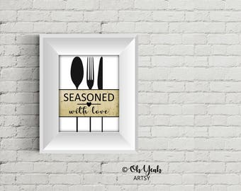 Seasoned Kitchen Art Print