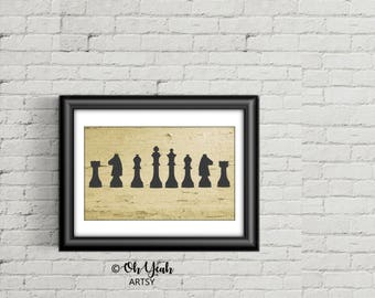 Chess Court Art Print