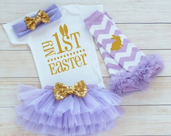 Baby Girl Easter Outfit, My 1st Easter, Baby Girl Easter, Baby Girl Easter Bodysuit, Easter Shirt, My First Easter, Baby Girl Easter Gift,