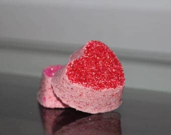 Heart Shaped Bath Bomb with Sprinkles