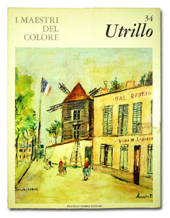 Utrillo: I Maestri Del Colore #34 Milan 1964 Italian Language Art Artist French Painter Color Plates