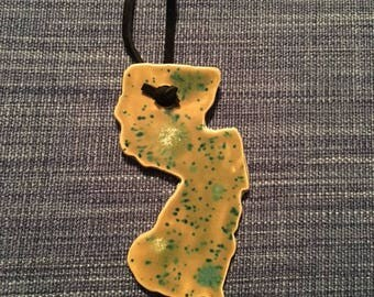 New Jersey Clay Ornament