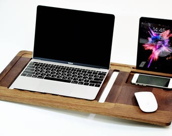 Father's Day Laptop Stand, laptop table, Macbook Stand, Laptop Heat Protection, laptop cradle, Mobile Air Desk, Lap Desk, Macbook table