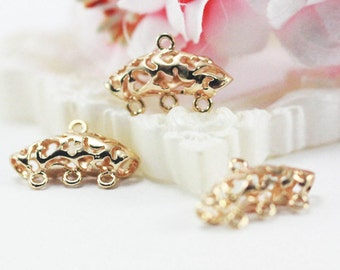 11x17mm 14k Gold plated connector for earrings or bracelets