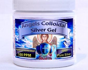 Colloidal Silver Gel 4oz 100ppm BEST NANO!!