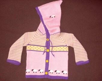 Baby knit jacket, baby cardigan