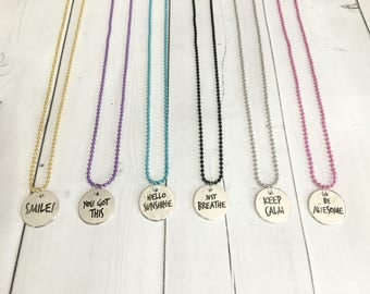 Girls necklace - tween necklace - girls jewelry - tween jewelry - positive jewelry