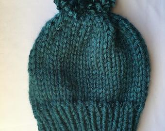 Basic Knit Hat // Chunky Knit Hat // Adult Hat // Pom Pom // Ready to Ship