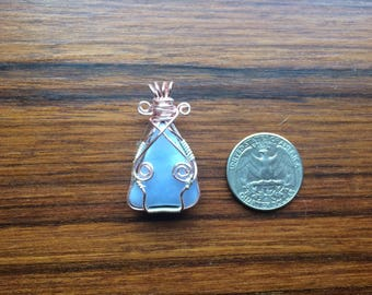 Lavender Fairy Blue Lace Agate Pendant, OOAK Wire Wrapped Jewelry, Handmade Pendant, Gifts for Any Occasion, Crystal Healing, Graceful Stone