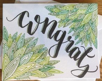 Greeting Card: 'Congrats'