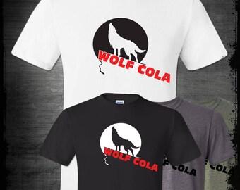 Wolf Cola T-shirt, Always Sunny Philadelphia Dennis Reynolds Charlie Kelly Frank Parody Funny Paddy's Pub Day Man Comedy Shirt Pop Culture