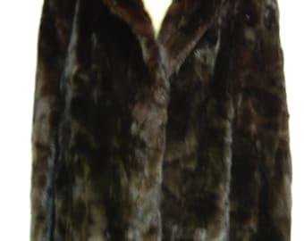 Rare Black Ranch Mink Jacket | c. 1980's