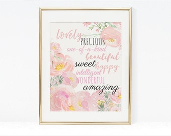 Printable Wall Art, Positive Affirmations Printable Wall Art, Affirmation Printable Wall Art Print
