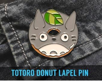 TOTORO DONUT lapel pin - Enamel Studio Ghibli Howls Moving Castle cosplay girlfriend gift badge pins totoro anime sprited away fan art