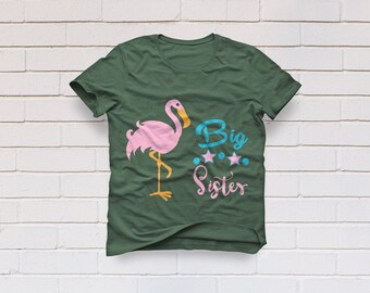 Big Sister svg, Sister svg, Flamingo svg, Big sis svg, Girl svg, SVG Files, Cricut, Cameo, Cut file, Files, Clipart, Svg, DXF, Png, Pdf, Eps