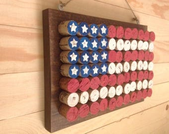 American Flag. Wine Cork Flag.