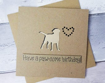 Yellow Labrador birthday card, Handmade birthday card, Labrador pun card, Dog birthday card, Golden Labrador Retriever card