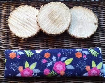 Soothing bag for Migraine / headache heating pad, flowers, flannel