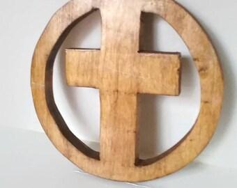 Wood Cross - Hand Cut - Boxy