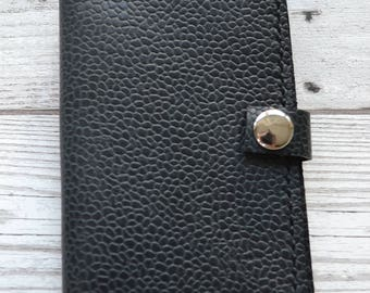 Leather Credit Crad Holder / Hand stitched bifold leather wallet with pocket on the back. Hand made in London
