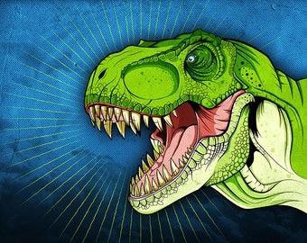 Dinosaur Print - Tyrannosaurus Jurassic Park, Jurassic World