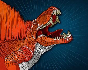 Dinosaur Print - Dimetrodon Jurassic Park, Jurassic World