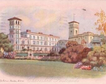 Osbourn House Isle Of Wight ~  Vintage Postcard. - Posted. 1938.