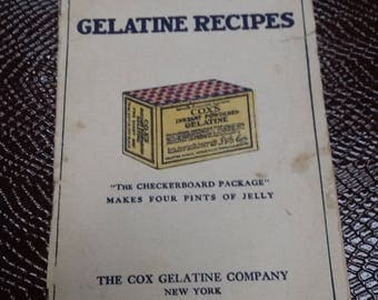 Vintage Cook Book-Cox's Gelatine Recipes