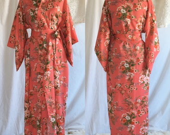 Vintage 1970's Japanese Kimono Robe