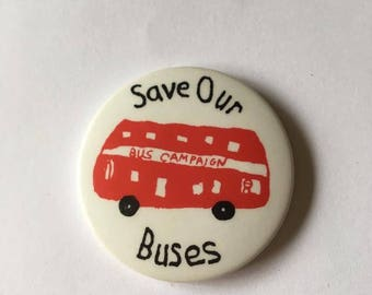 Save our buses badge