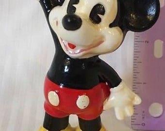Walt Disney Mickey Mouse Vintage Ceramic Figurine
