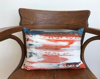 Graphic lumbar pillow
