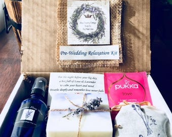 Brides Gift, Pre-Wedding Relaxation Kit, Lavender Relaxation for the Bride