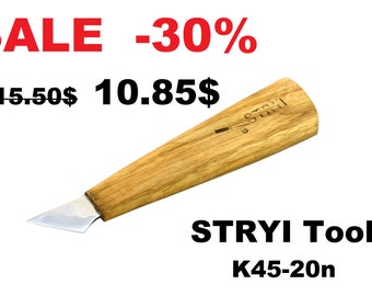Knife for wood carving (angle 45 degree),woodcarving chisels,knife for woodcarving,chip carving knife, wood carving tools, Stryi tools