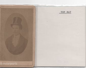 Digital Download - Antique CDV Photograph - Unknown man wearing a top hat