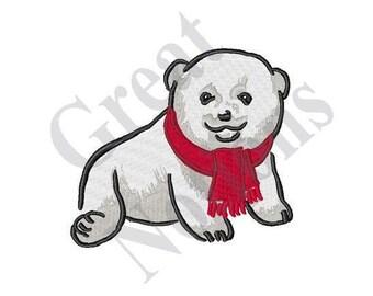 Polar Bear Cub - Machine Embroidery Design