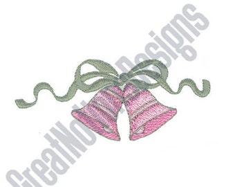 Ribbon And Bells - Machine Embroidery Design