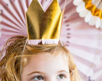Princess Party Gold Party Crowns/ Princess Party Crowns/ Princess Party Pink and Gold Crowns
