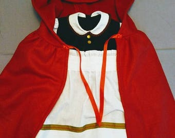 Little Red Riding Hood Costume - girl's size 6/7