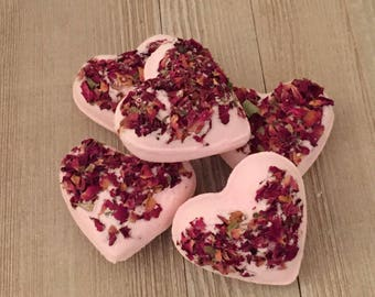 Rose Bath Bomb>Heart Bath Bomb>Rose BathBombs>Buy 4 Get 1 Free>Party Favors>Bridesmaid Gift>Gift For Women>All Natural Bath Bomb>Organic