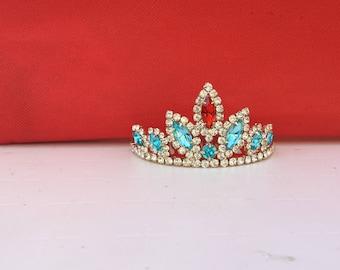 elena of Avalor Elena Of Avalor Tiara,PRINCESS ELENA CROWN, Tiara,Princess Elena Halloween Costume Red & blue crown