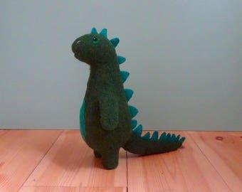 plush toy, gift for boys, music box, dinosaur, felt animals, needle felted animal, musical toys for babies, plushie, felt toys