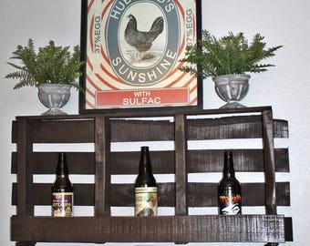 Reclaimed Wood, Rustic, Pallet Beer Bomber / Wine Rack