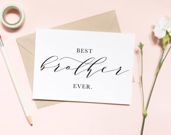 Best brother ever card, thank you brother card, best friend card, best brother card, groomsman card, best man card / SKU: LNTHANKS02