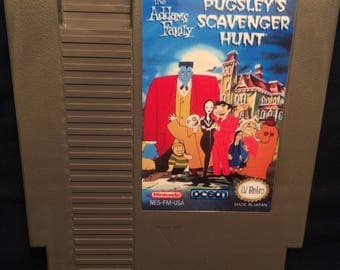 Pugsley's Scavenger Hunt NES Reproduction Game
